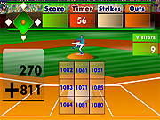 Click to Play Batters Up Base Ball Math - Addition Edition