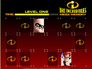Click to Play The Incredibles Mega Memory