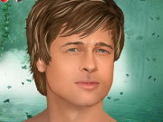Click to Play Brad Pitt Celebrity Makeover