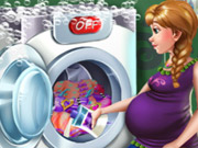 Click to Play Pregnant Princess Laundry Day